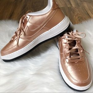 Nike Air Force 1 Rose Gold Youth Sneakers